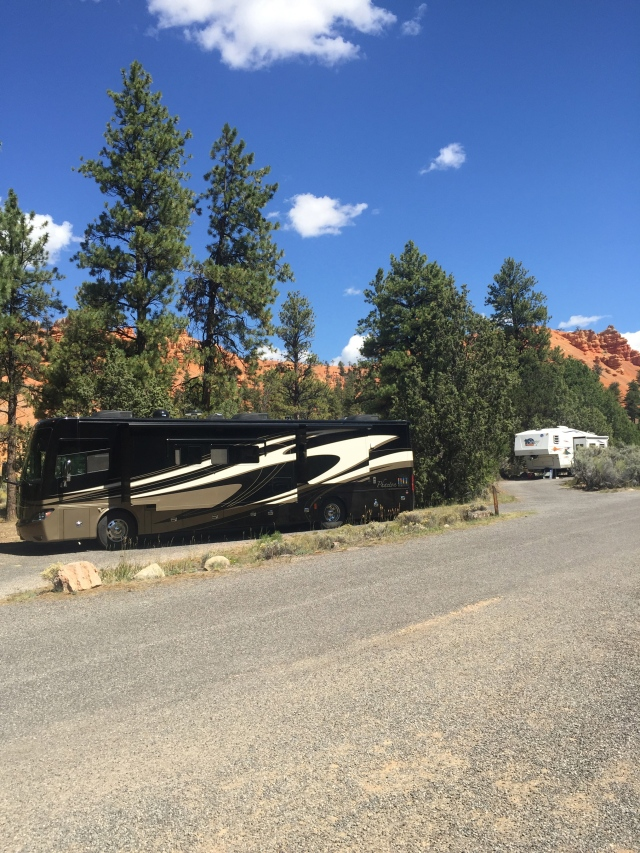 Home at Red Canyon campground. What hideous views of our backyard!