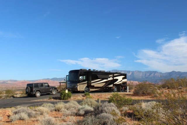 Our home at Sand Hollow State Park.