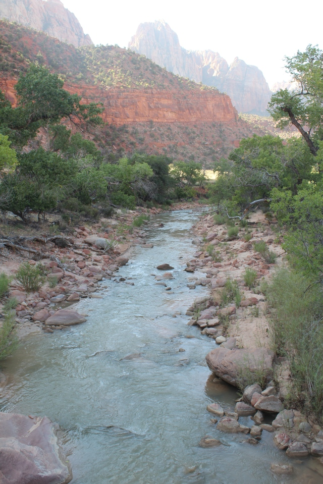 Turn around, look the other way down the Virgin River.
