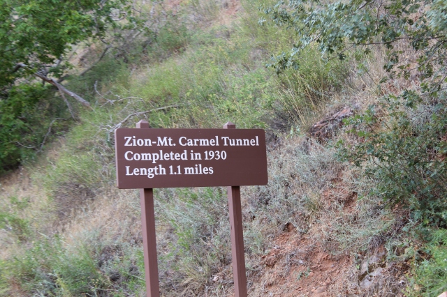 """This tunnel is unlit except for a few """"windows"""" cut into the mountain."""