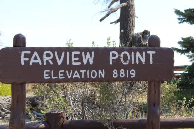 They say on a clear day you can see 100 miles in any direction from Farview Point...