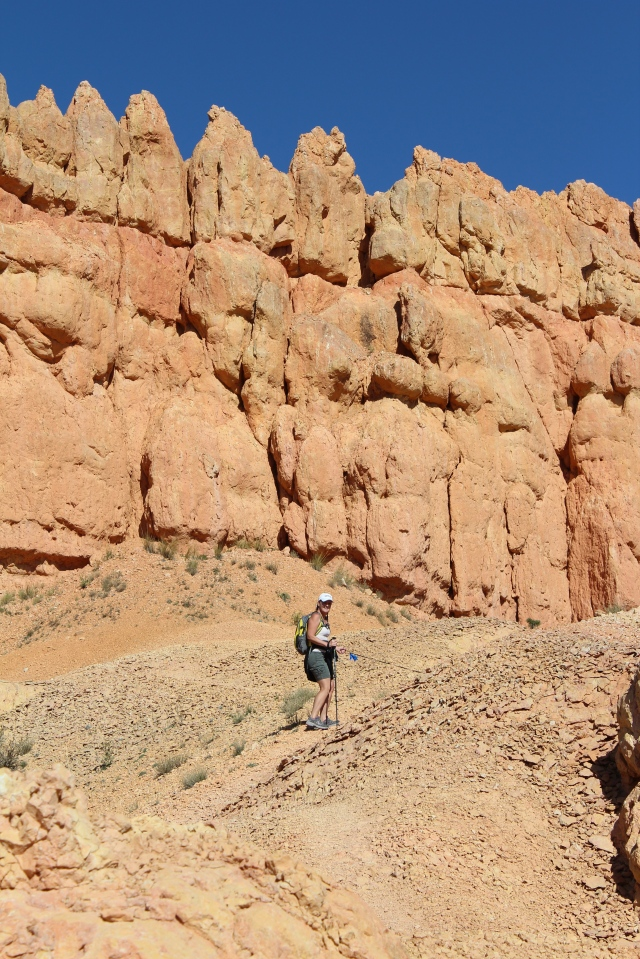 Jeanne on the Golden Walls Trail