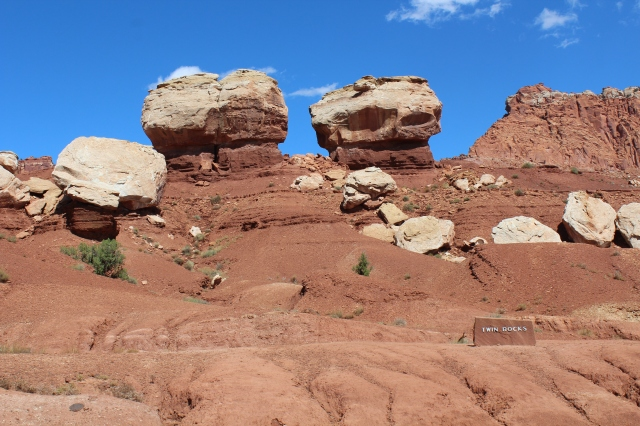 Twin Rocks at Capitol Reef NP