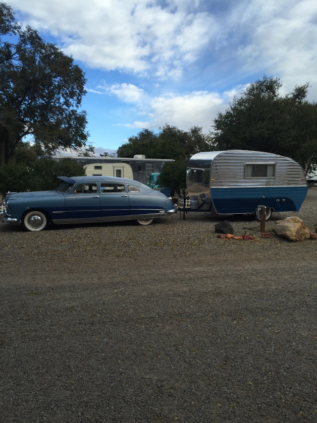 They had a small display of classic cars/campers at the Enchanted Trails RV Park.