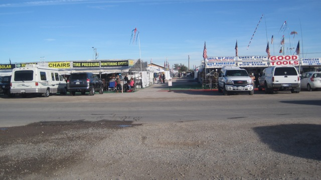 The outside vendor tents for the RV show folks, before the crowds...
