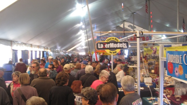 Inside the big tent. Ankle to elbow...