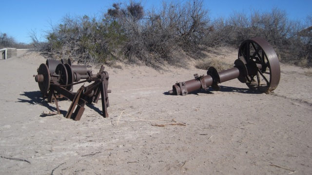 The hot well came to be when they came here to drill for oil, but only hit hot water. Here is some of the original drilling gear.