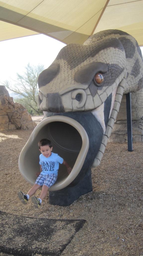The snake slide!