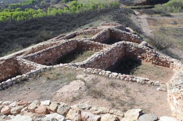 Some of the walls from Tuzigoot.