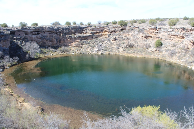 Montezuma's Well, with cliff dwellings