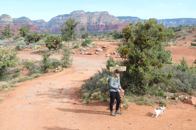 Can't get lost on the hike to Devil's Bridge. Sedona gets an A+++ for trail signage!