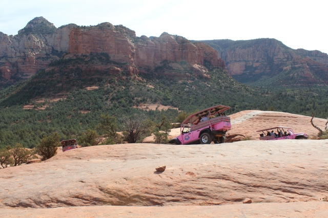 Yes, we shared a very small portion of the trail with a Jeep tour company with bright pink Jeeps.