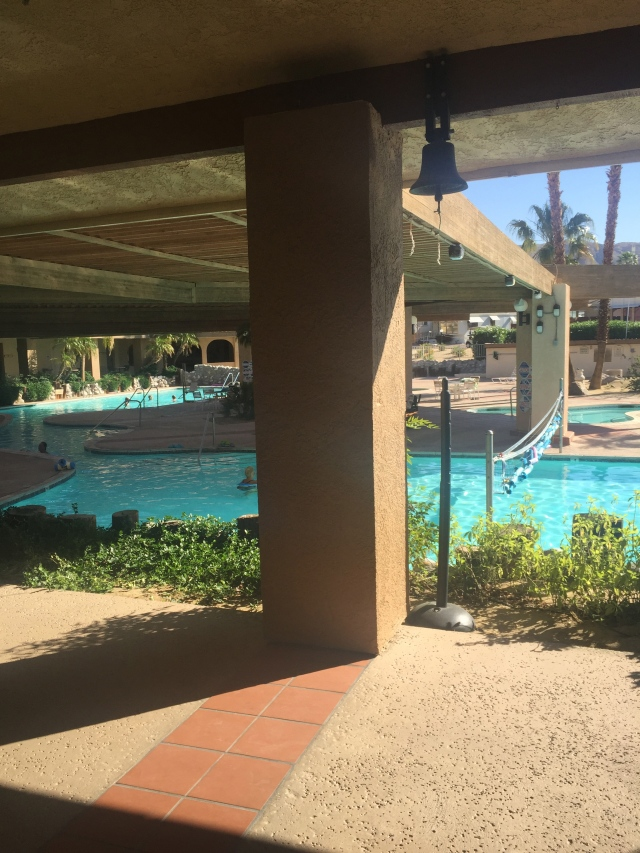 Pretty cool pool/spa area here at Caliente Springs. They are fed by a natural hot springs...