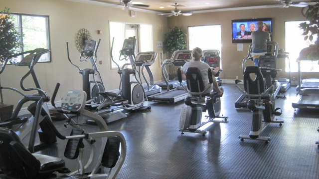 Exercise room. Not extensive on free weights, but many cardio machines.