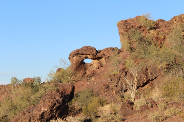 This little arch was just behind our house.