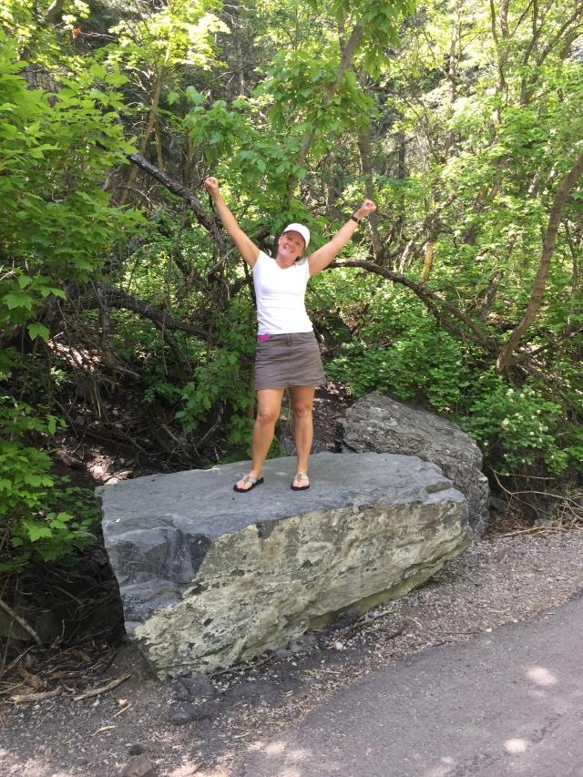 When mountain climbing always remember to wear appropriate footwear!