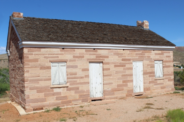 The Adams house at Red Cliffs.