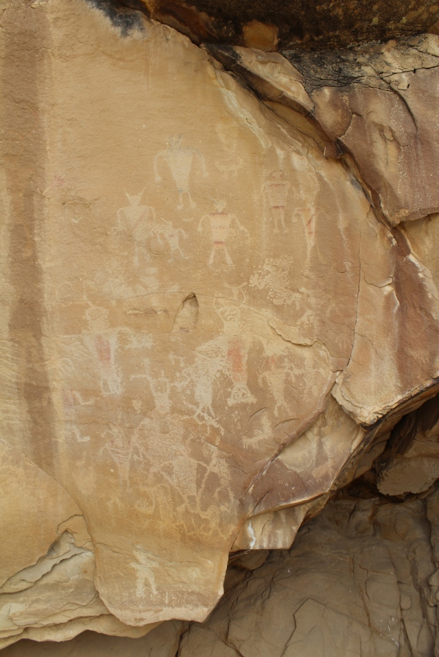 Some of the many petroglyphs along Cub Creek Rd.