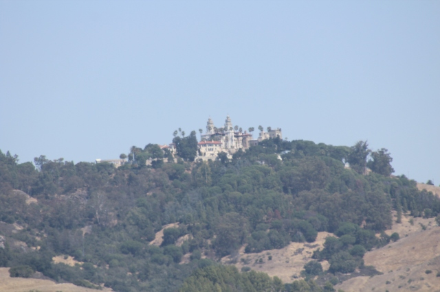 Hearst Castle from the coast highway.