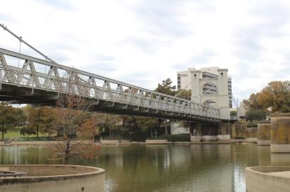 The Waco suspension bridge.