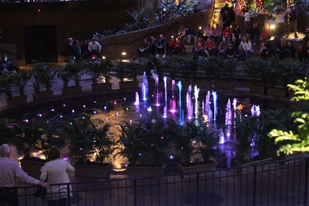 Some of the dancing fountains inside the Opryland Resort.