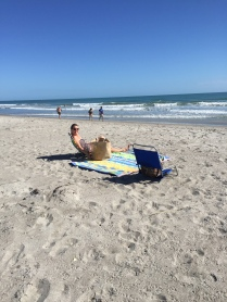 Cocoa Beach was not too crowded but there was this one hot babe sunnin' herself...