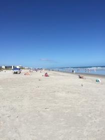 A look north down Cocoa Beach.