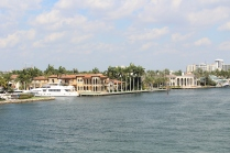 """We caught sight of a couple of """"fixer-uppers"""" along the waterway in Ft. Lauderdale. Mansions a quarter of their size we found going for the $6M neighborhood, can only imagine the price tag on these. No matter, I couldn't afford the monthly fuel bill for the family boat, let alone a mortgage payment..."""