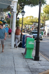 This special person seems to have forgotten to wear his Depends today, may need to go change himself! All kinds of folks on Duval St.