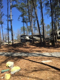 Our home at Stone Mountain Park Campground.