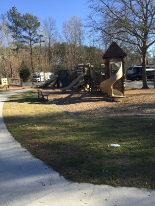 Part view of the kids' playground.