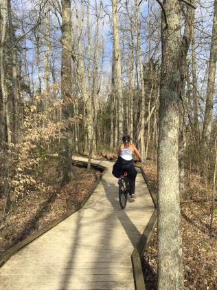 Some of the 16 mile trail was plank wood...