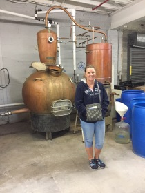 Here is a lovely girl standing in front of the only still at Bluegrass Distillery. This was the only distillery we visited that does a mashbill (recipe) with blue corn. Unfortunately, they had no blue corn product available for tasting...