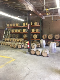 Can you smell the bourbon-in-progress?!?! Not a lot of storage going on with some of these mom-n-pop distillers like Barrel House.