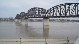 The bridge from below.