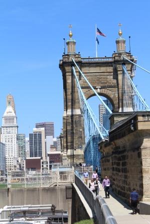 The John A. Roebling bridge.