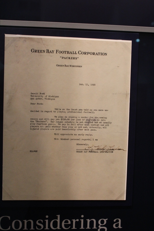 Green Bay's offer letter. $110, that's a crack up!
