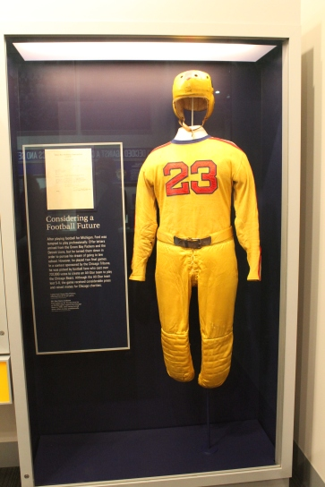 One of Ford's football uniforms. They are a bit different these days...