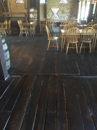 The original flooring of the brewery was pretty cool to look at and walk on. The flooring was far from level...