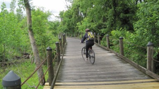 This was part of the Mt. Vernon Trail as well, boardwalk style across a swampy area.