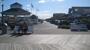 Rehoboth Beach area and boardwalk.