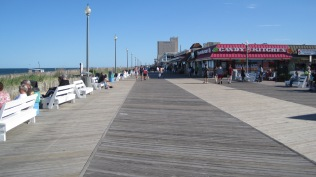 Looking south on the boardwalk.