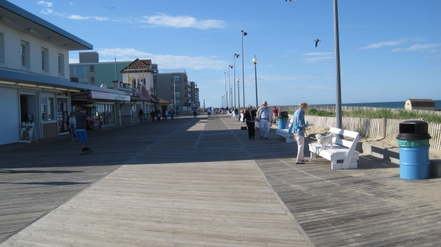 Looking north on the boardwalk.