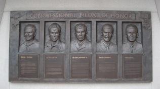CMH recipients, part of the Korean War Memorial.