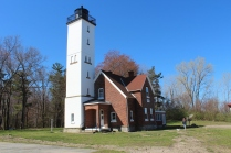 The Presque Isle Lighthouse.