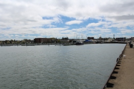 The Dunkirk small boat harbor.