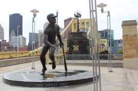 Roberto Clemente. He must've been famous, they named the bridge behind him after him...