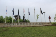 There is also a very nice Law Enforcement memorial in front of the stadium.