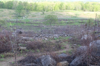 A fuller view of the Valley of Death from Little Round Top.
