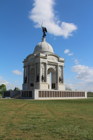 The states all erected monuments to their own participating soldiers throughout the battlefield. This one is Pennsylvania's own and it is spectacular.